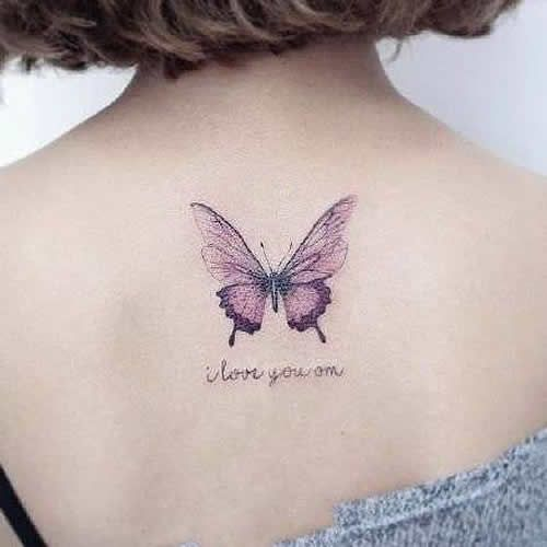70 Awesome Back Tattoo Ideas Neck Tattoo Butterfly Tattoos For Women Purple Butterfly Tattoo
