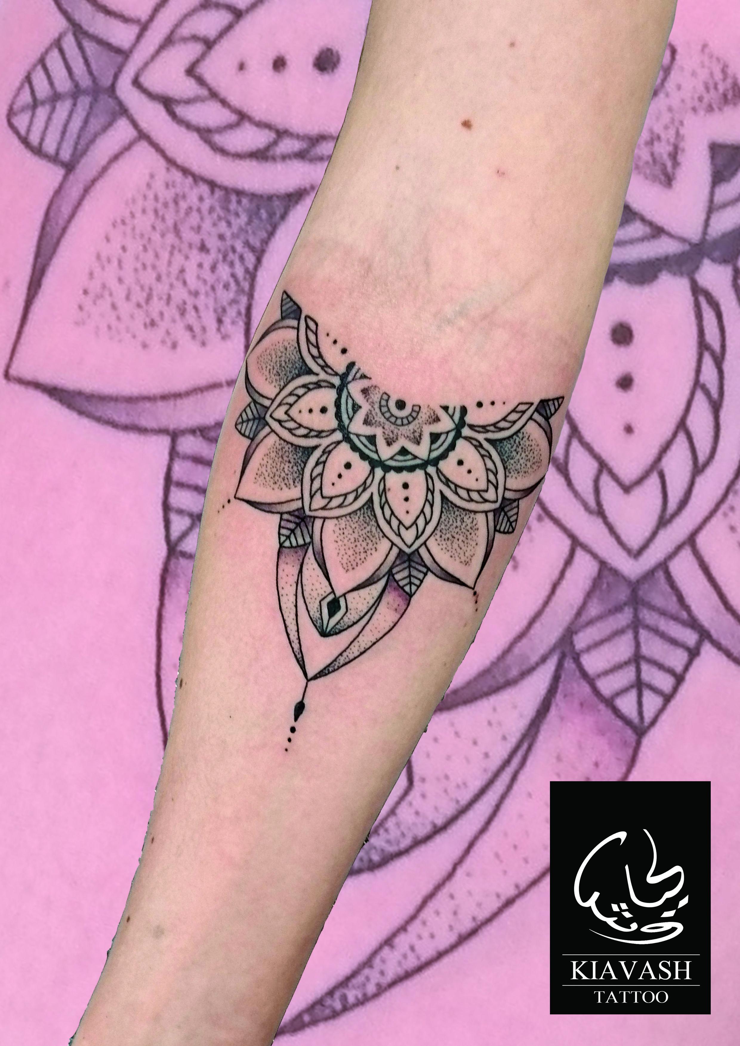 Photo of forearm mandala tattoo for girl