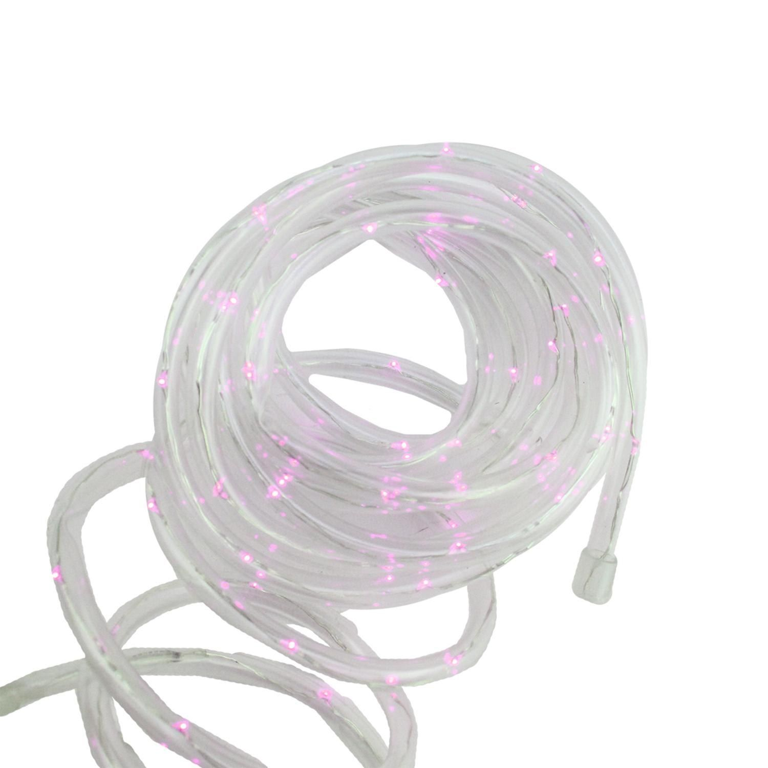 12 solar powered multi function pink led indooroutdoor christmas 12 solar powered multi function pink led indooroutdoor christmas rope lights with aloadofball Image collections
