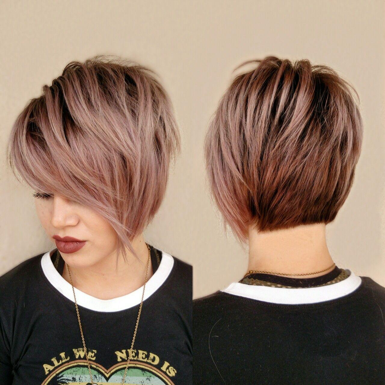 Rose gold short hair hair styles pinterest gold shorts short
