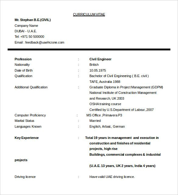 16+ Civil Engineer Resume Templates u2013 Free Samples, PSD, Example - civil engineer resume