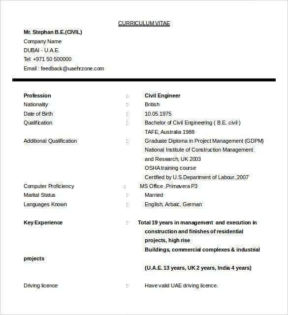 Pdf Doc Free Premium Templates Resume Template Australia Civil Engineer Resume Resume