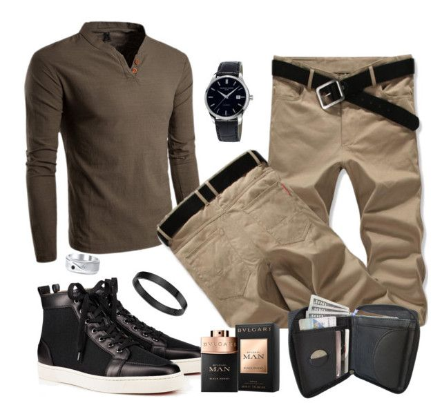 """""""Untitled #828"""" by the-luxurious-glam ❤ liked on Polyvore featuring Christian Louboutin, Frédérique Constant, Bulgari, men's fashion and menswear"""