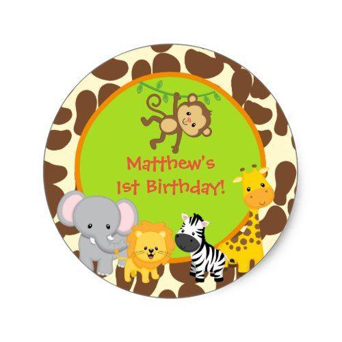Boys Safari Monkey Baby Shower Favor Tags Boys Safari Monkey Baby Shower Decor Boys Safari Monkey Baby Shower Supplies Boys Safari Monkey Baby Shower Sticker Labels or Favor Tags