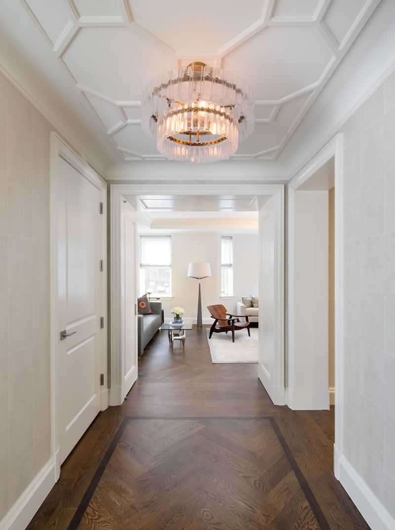 With Its Coffered Ceiling Motif And Wide Herringbone