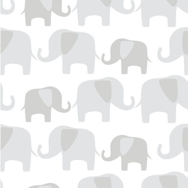 Elephant Parade Peel And Stick Wallpaper 105 AUD Liked On Polyvore