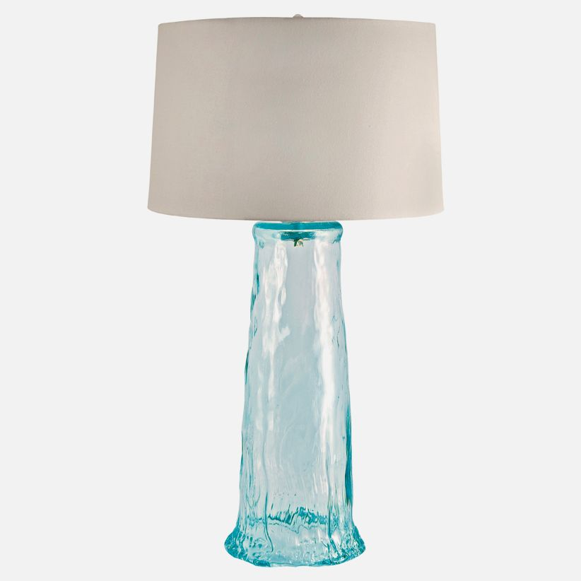 Cirrus wave recycled glass table lamp in clear lamp works cirrus wave recycled glass table lamp in clear lamp works aloadofball Choice Image