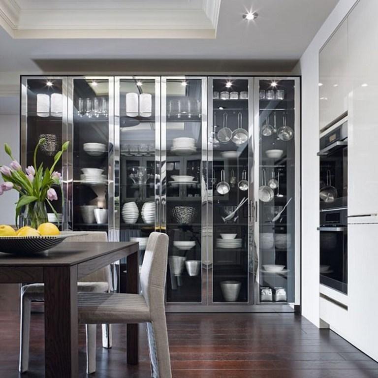 10 charmantes cuisines avec des placards vitrés Kitchen - charmantes appartement design singapur