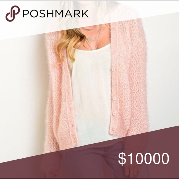 Ships Tuesday! Blush cozy cardigan! Fuzzy long sleeve button front chunky cardigan. Soft and beautiful Sweaters