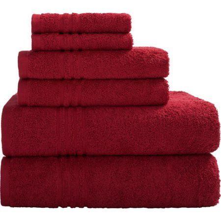 Bath Towels At Walmart Endearing Mainstays Essential True Colors Bath Towel Collection 6Piece Set Design Ideas