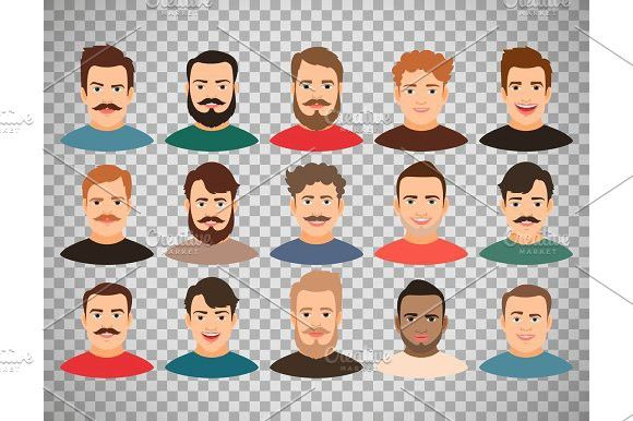 Man Face Avatars On Transparent Background Female Avatar Human Icon Male Face Transparent icons png, svg, eps, ico, icns and icon fonts are available. man face avatars on transparent