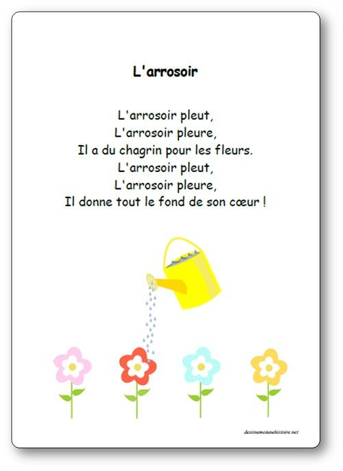 Comptine L Arrosoir Paroles Illustrees De La Compltine L