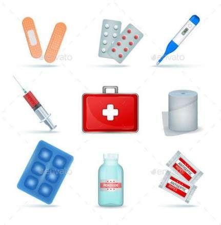 Best medical kit design red cross ideas #medical #design