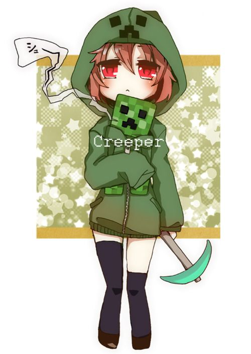 Girl creeper google search cute pinterest creepers - Creeper anime girl ...
