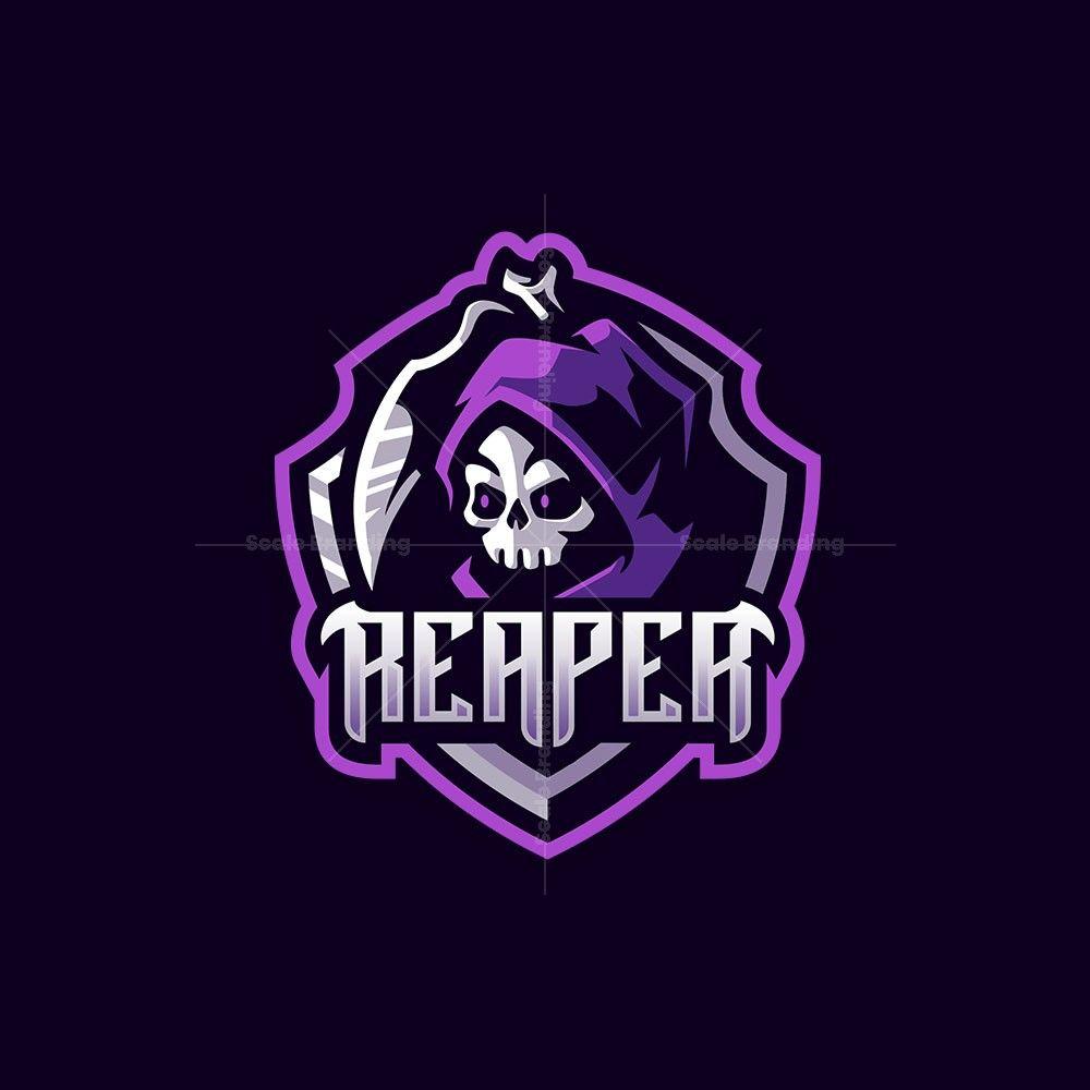 Reaper Mascot Logo In 2020 Sports Logo Design Monogram Logo Design Game Logo Design