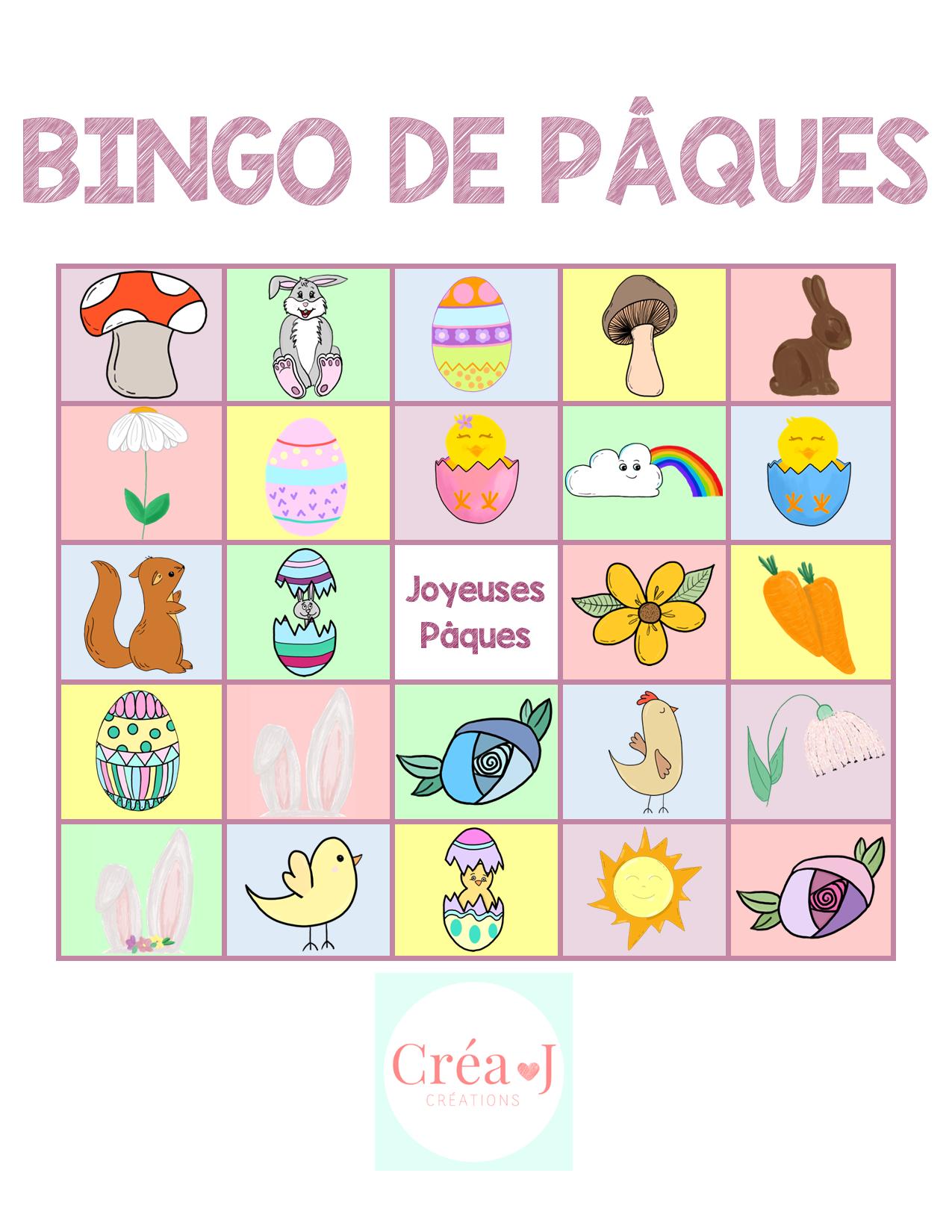 Bingo De Paques Bingo Jeux De Bingo Joyeuses Paques