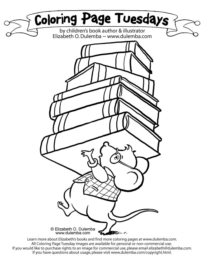 Coloring Page Tuesday Library Mouse Coloring Pages Coloring