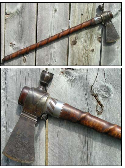 Spiral Hafted Pipe Tomahawk