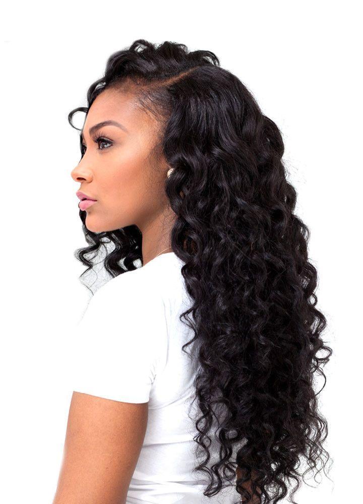 7a european deep wave human hair extension weave