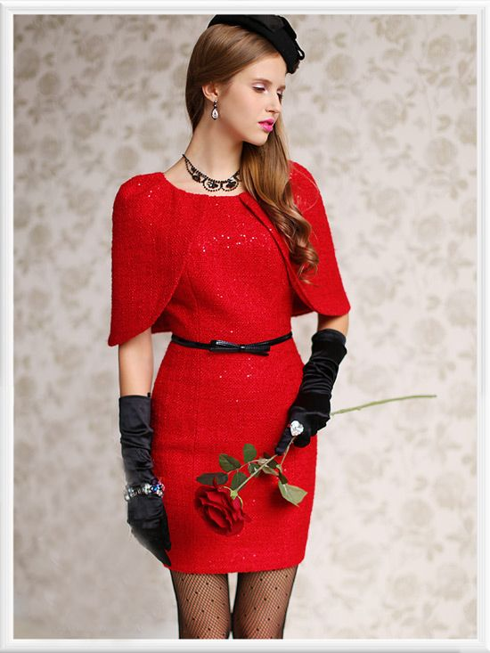 Morpheus Boutique - Red Trench Round Neck Pencil Dress, CA$123.06 (http://www.morpheusboutique.com/red-trench-round-neck-pencil-dress/)