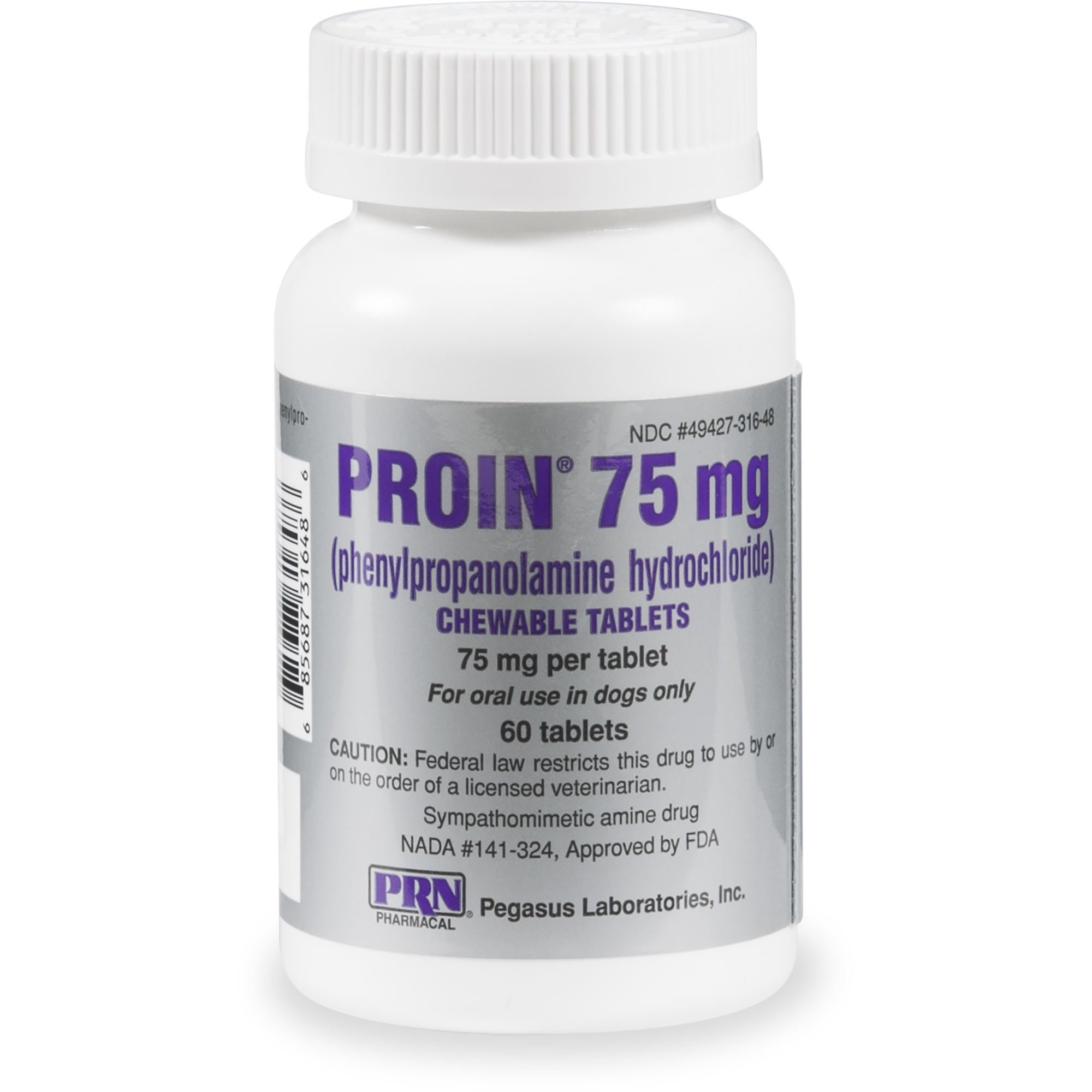 Proin 75 Mg Chewable Tablets 60 Count 60 Ct Medical