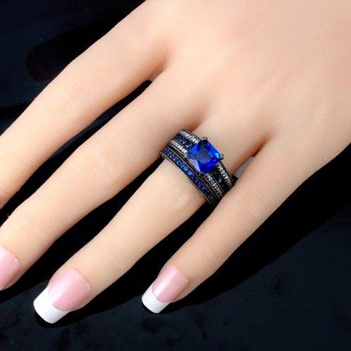 Black Wedding Ring Set   Google Search