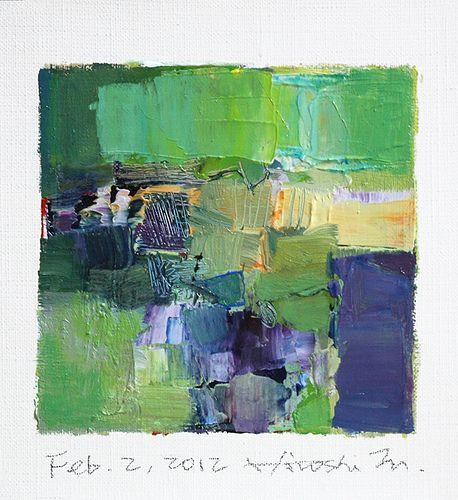 feb022012 | oil on canvas 9 cm x 9 cm hiroshi matsumoto w… | Flickr