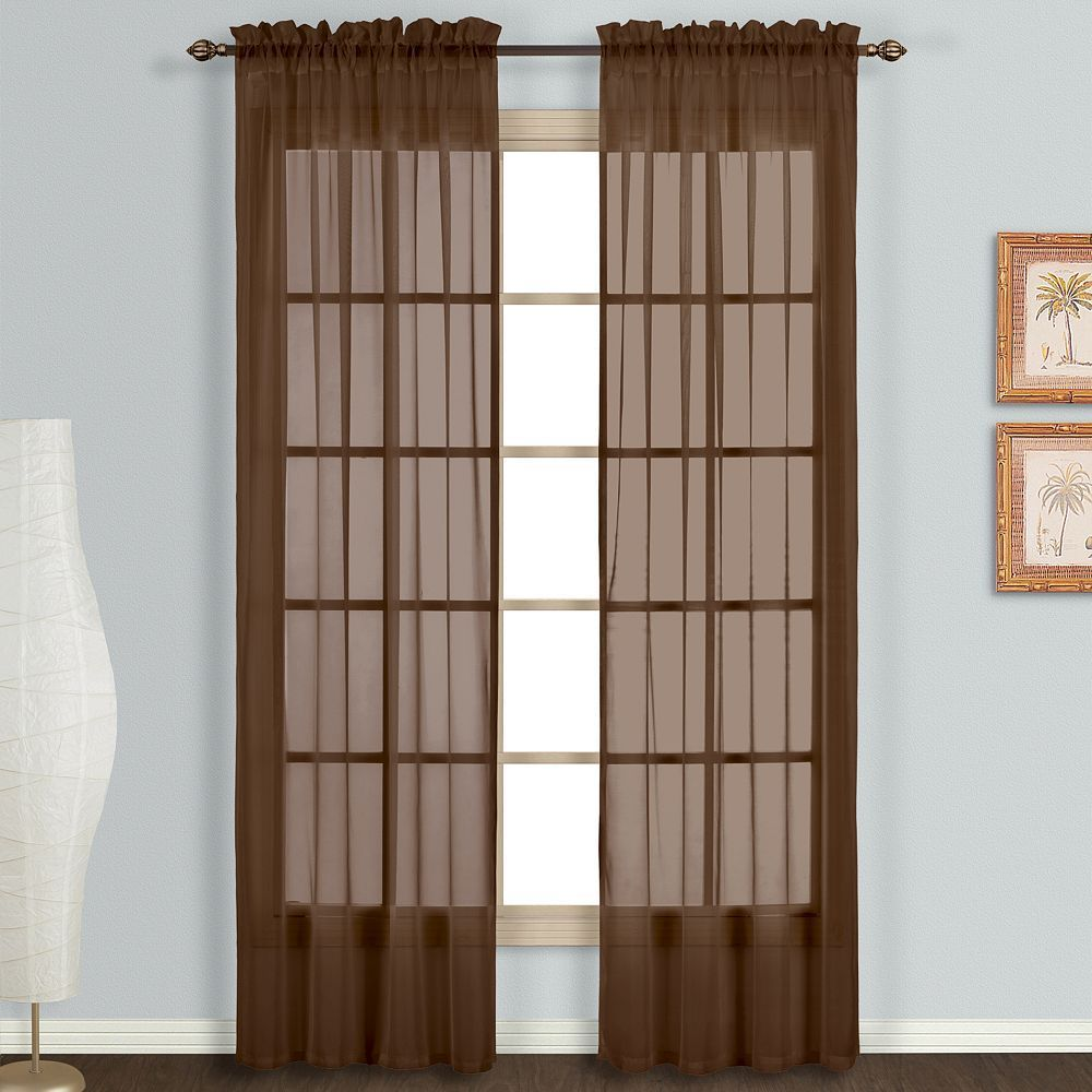United Curtain Co 2 Pack Monte Carlo Voile Window Curtains