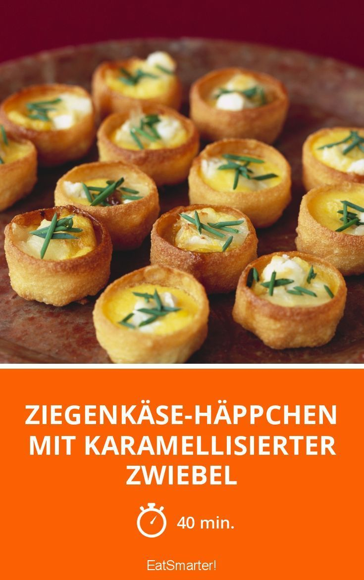Photo of Goat cheese canapes with caramelized onion