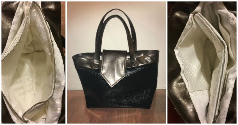 Sac cabas avec séparation zippée Madison cousu par Marina - Patron de couture Sacôtin
