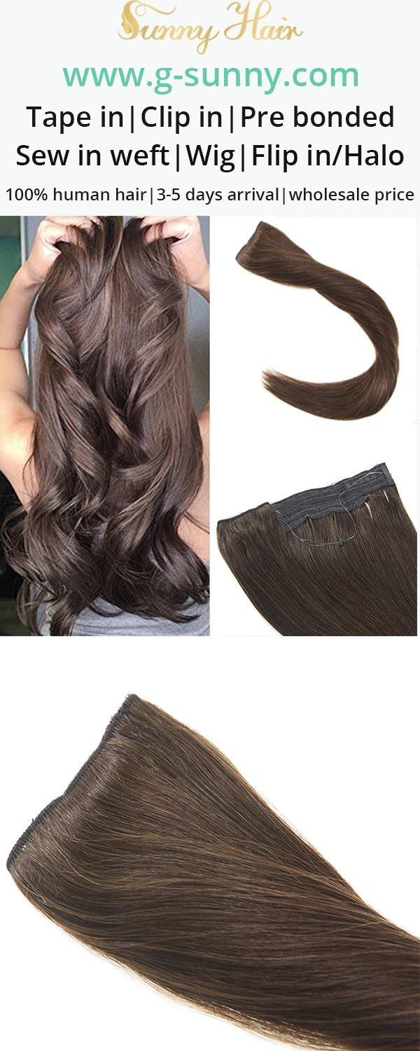 Sunny Hair 100 Human Hair Extensions Flip In Halo Hair Extensions