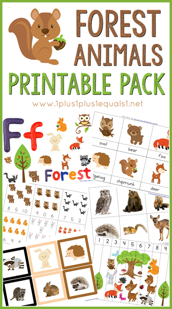free forest animals printables pack preschool eco systems forest animal crafts woodland. Black Bedroom Furniture Sets. Home Design Ideas