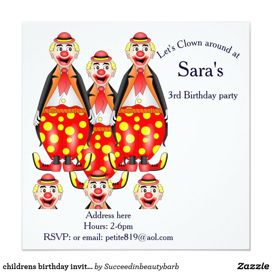 childrens birthday invitation cards   children\'s birthday invitation ...