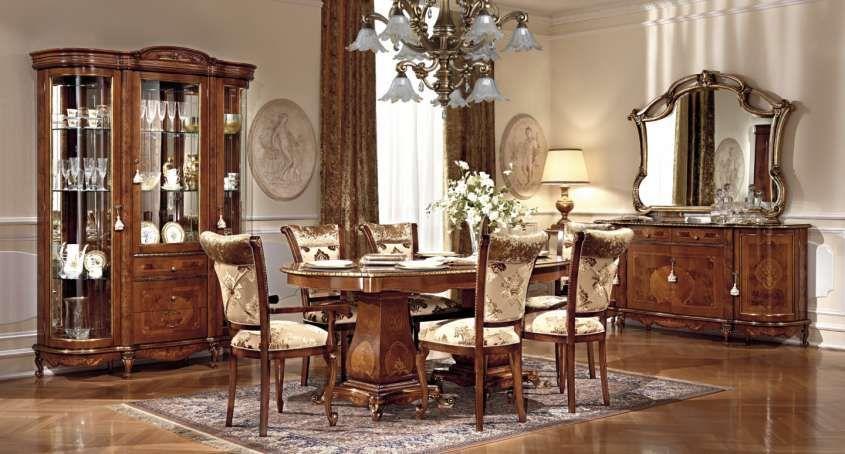 Sala da pranzo stile veneziano mobili in stile veneziano color noce veneziano sala da - Sala da pranzo stile barocco ...