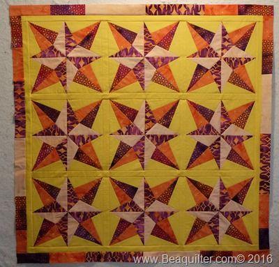 Blazing Stars quilt accuquilt and island batik | Accuquilt Go ... : blazing star quilt - Adamdwight.com