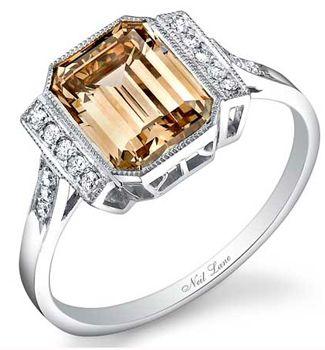 chocolate diamond rings. Hermoso.