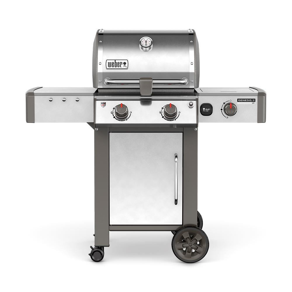 Genesis Ii Lx S 240 2 Burner Natural Gas Grill In Stainless Steel With Built In Thermometer And Grill Light 65004001 The Home Depot Propane Gas Grill Natural Gas Grill Gas Grill