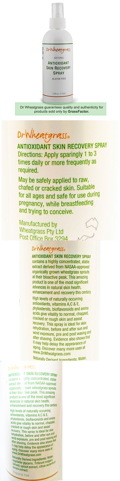 Australia S Best Skin Care For Summer Dr Wheatgrass Skin Recovery