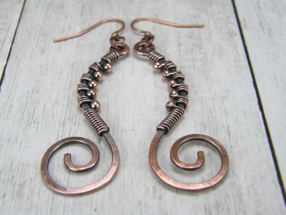Hey, I found this really awesome Etsy listing at https://www.etsy.com/uk/listing/255378768/copper-wire-wrap-earrings-womens