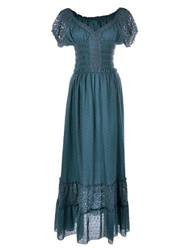 1880f7998cd AnnaKaci Blue Large Size Smocked Waist Summer Maxi Dress Cap Sleeve Boho  Gypsy Blue Large -- More info could be found at the image url.