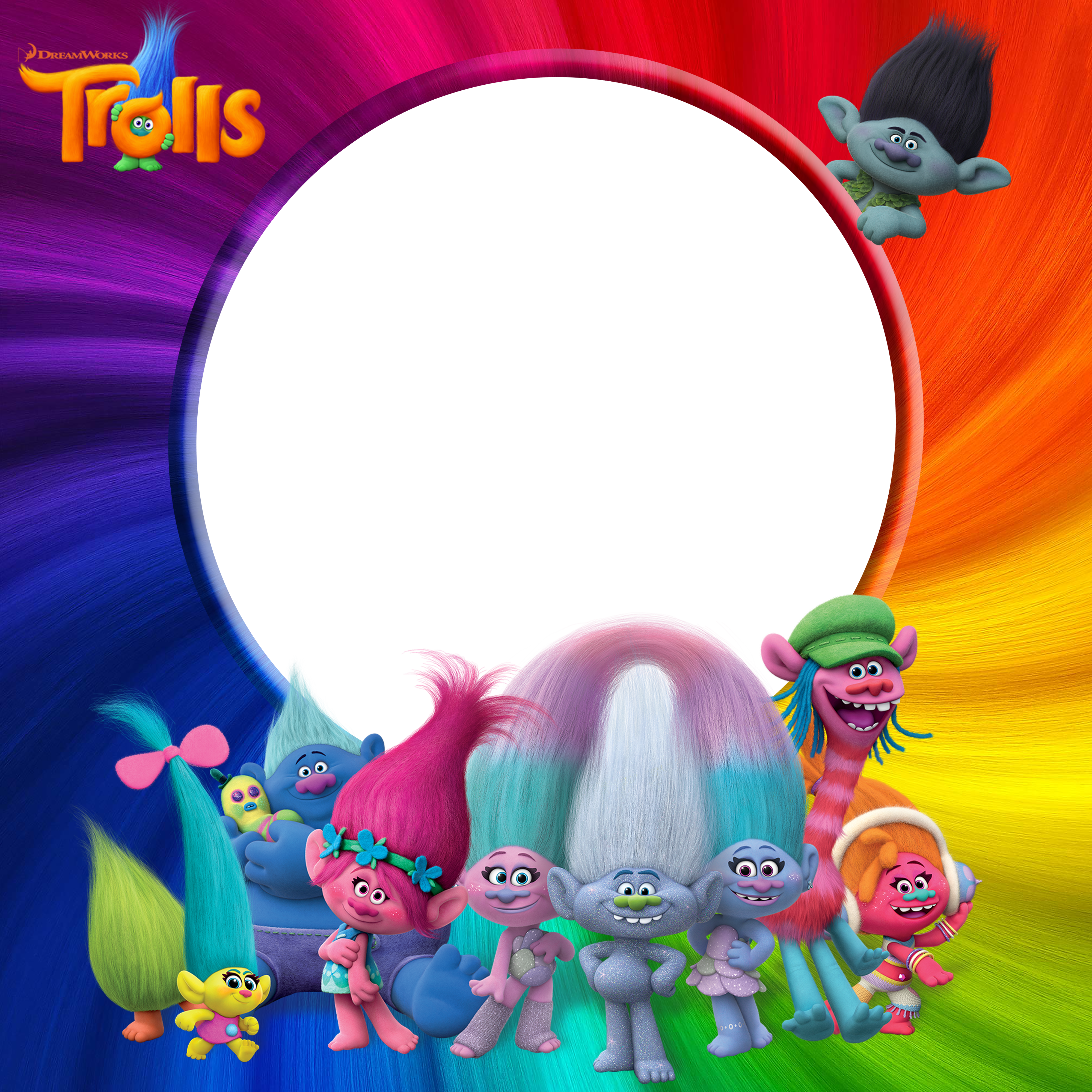 Trolls PNG Transparent Frame Gallery Yopriceville HighQuality