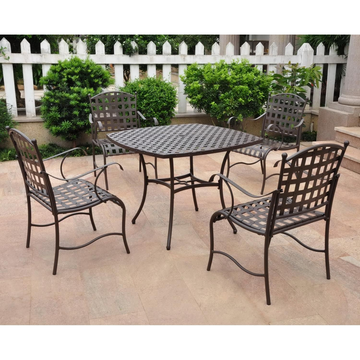 Nice International Caravan Santa Fe 4 Person Patio Dining Set   Matte Brown · Iron  FurniturePatio ... Part 17