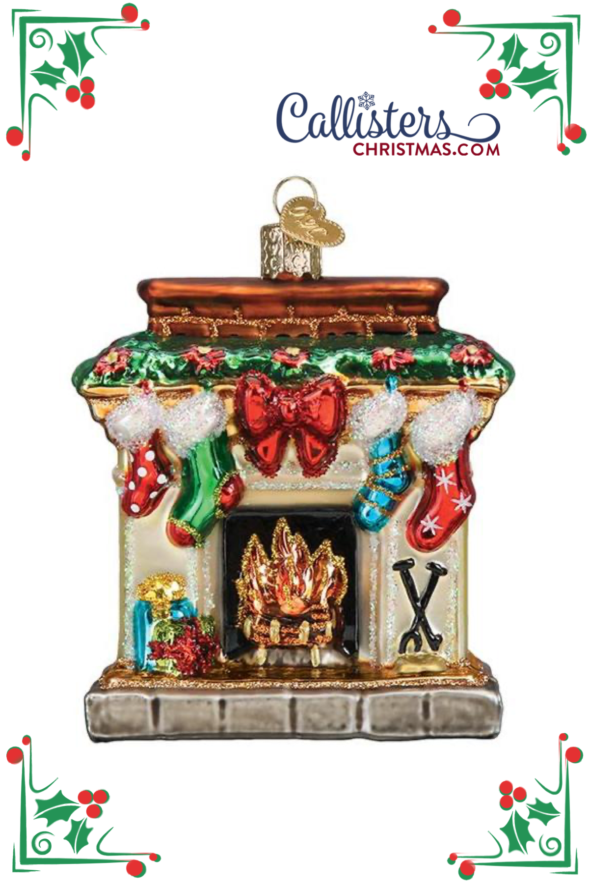 Holiday Hearth Ornament in 2020 Old world christmas
