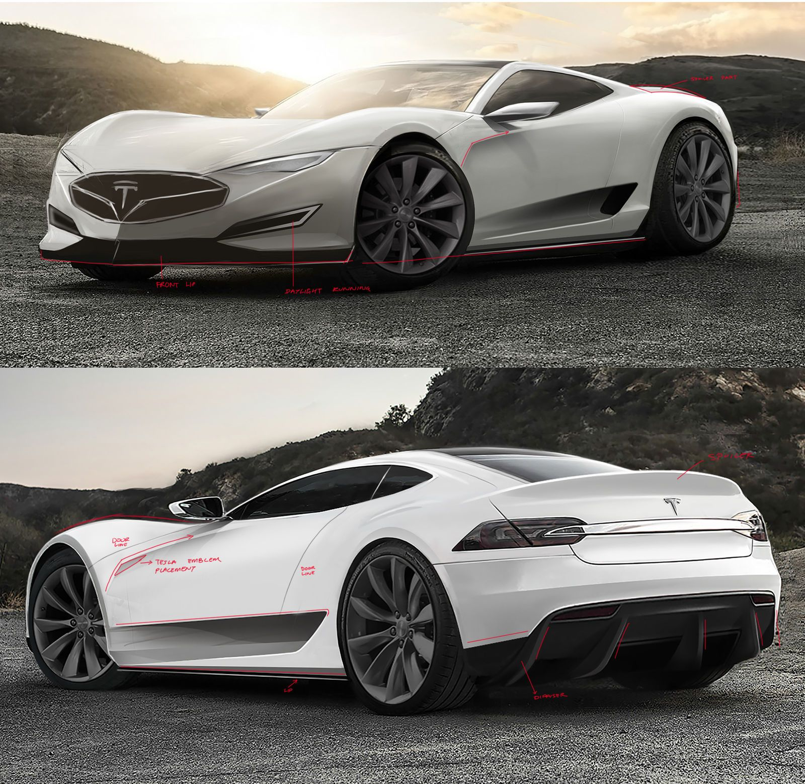 Tesla Roadster, Tesla Car, Concept Cars