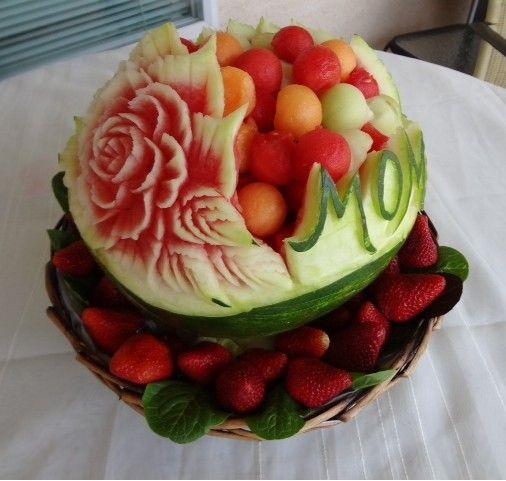 Mom watermelon carving creative ideas