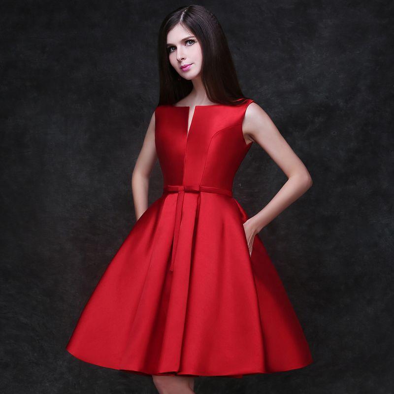 dffbd6d07a4b7 Encontrar Más Vestidos de Cóctel Información acerca de 2016 nuevo diseño de  una línea de vestidos