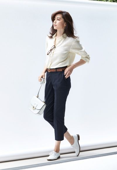 Uniqlo women outfit, Workwear fashion