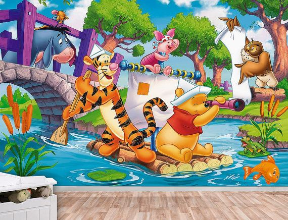 10 off Winnie the Pooh Wall mural Wallpaper Wall by