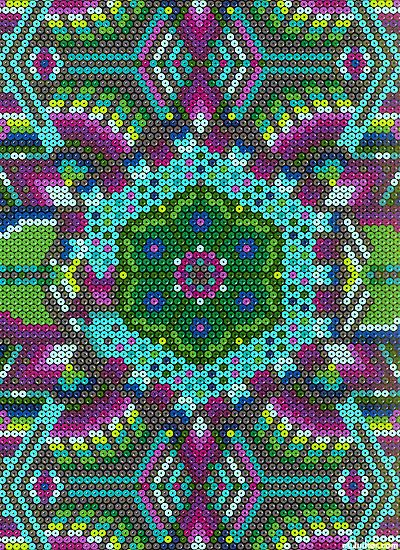 'Primitive' from the 'Beadwork' collection by Mark Hordyszynski for Michael Miller.