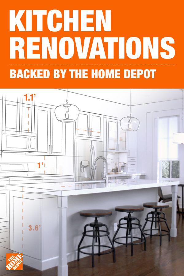 Complete Your Kitchen Renovation From Start To Finish With The Home Depot Kitchen Remodel Small Kitchen Renovation Full Kitchen Remodel